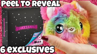 Squeezamals Mystery 6 pack   Peel to Reveal 6 Exclusives