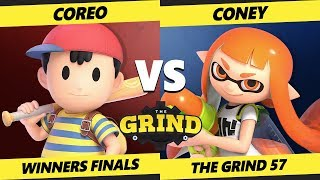Smash Ultimate Tournament - Coreo (Ness) Vs. VGBC | Coney (Inkling, Incineroar) The Grind 57 SSBU WF