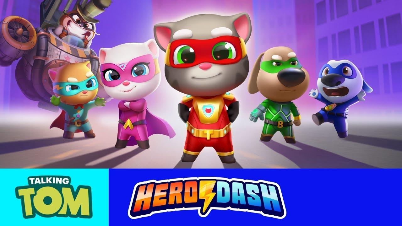 Raccoon Invasion in Talking Tom Hero Dash!