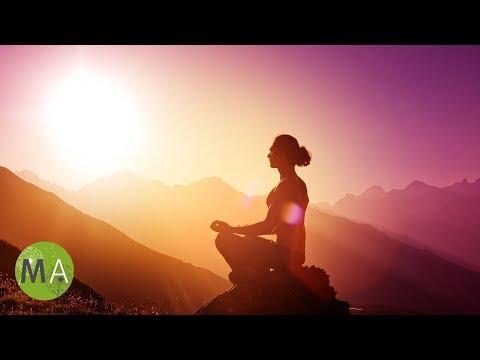 Deep Theta Meditation 55Hz Isochronic Tones With Metal Crystal Bowls and Rain