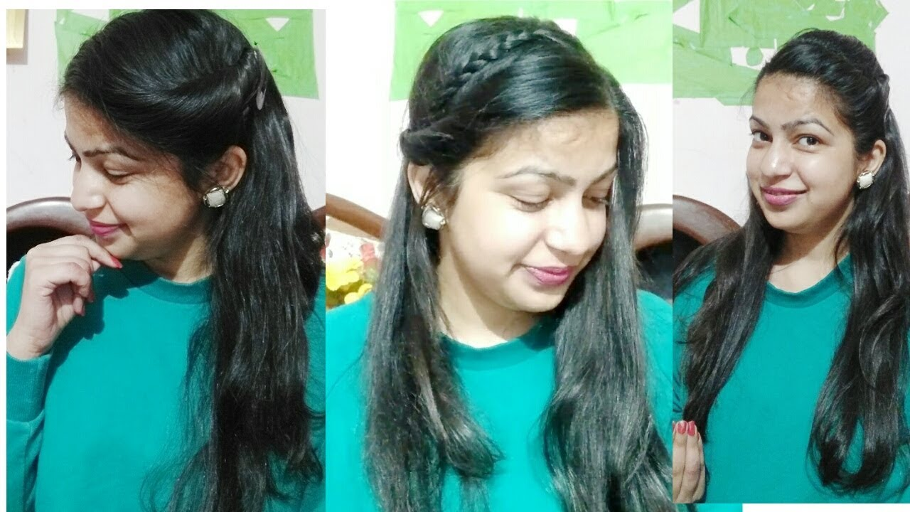 open hairstyles for saree || indian hairstyles || simple hairstyles