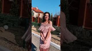 P 0939 Платье коктейльное с бахромой video