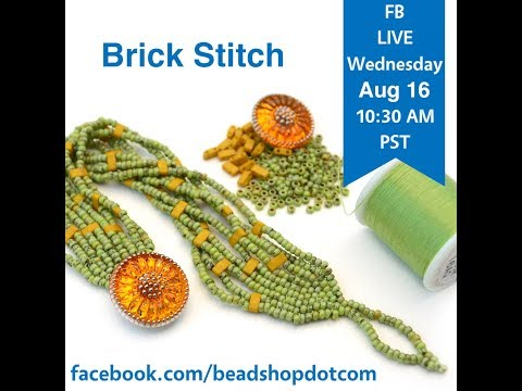 FB Live Seed Bead School: Brick Stitch With Emily And Grace