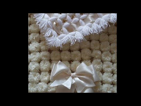 Pom pom blanket. Make your 1st Pom pom blanket step by step tutorial. ( pom pom rug)