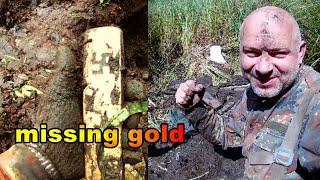 sztaby złota wszędzie szukać można w gorące lato potem wszystko zalewa woda lost gold found wykopki