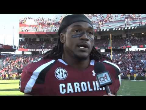 DJ Swearinger Post-Game Interview vs. Arkansas