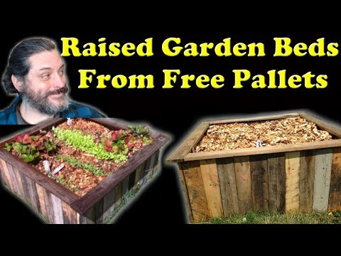 How To Make A Raised Garden Bed Out Of Free Wood Pallets