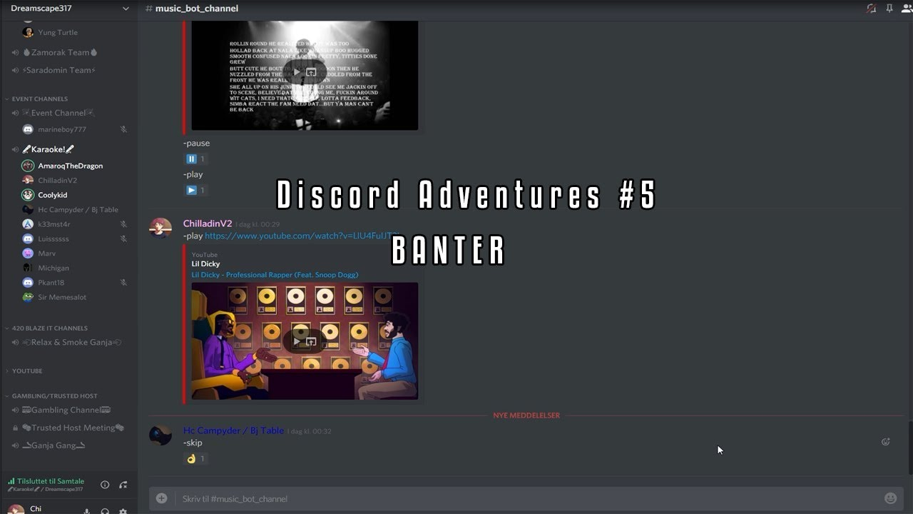 Dreamscape 317 l DS Discord Adventures #5 - BANTER