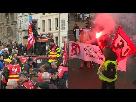 AFP: Retraites: des centaines de manifestants défilent à Marseille | AFP Images
