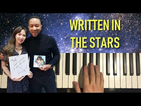 HOW TO PLAY - John Legend, Wendy - Written In The Stars (Piano Tutorial Lesson)