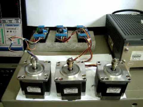Easy cnc stepper motor driver youtube for Easy stepper motor controller