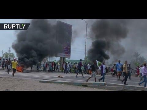 Dozens killed, police officer 'burned alive' during violent protests in Congo