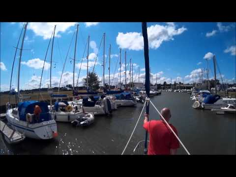 Sailing from Waldringfield to Woodbridge Tide Mill Yacht Haven Timelapse