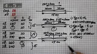 Страница 56 Задание 23 – Математика 4 класс Моро – Учебник Часть 2