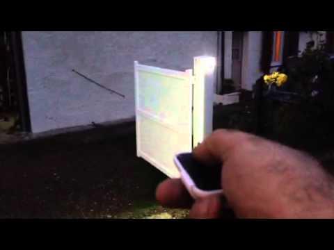 eclairage exterieur portail