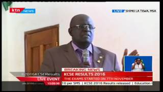 KCSE 2016: The No-Nonsense Professor Magoha outlines measures to curb cheating in future