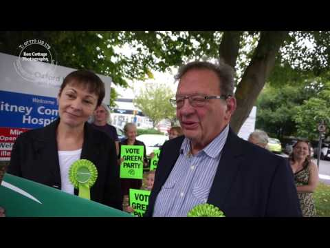 THE GREEN PARTY LARRY SANDERS COMES TO WITNEY VLOG 35