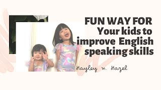 Parenting tips: Fun way to improve English speaking and communication skills @ H's first VLOG !!