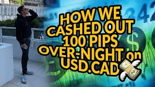 How We Cashed Out 100 Pips Overnight on USD.CAD