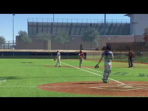 Riley Kueck - high school baseball freshman scrimmage - 1B