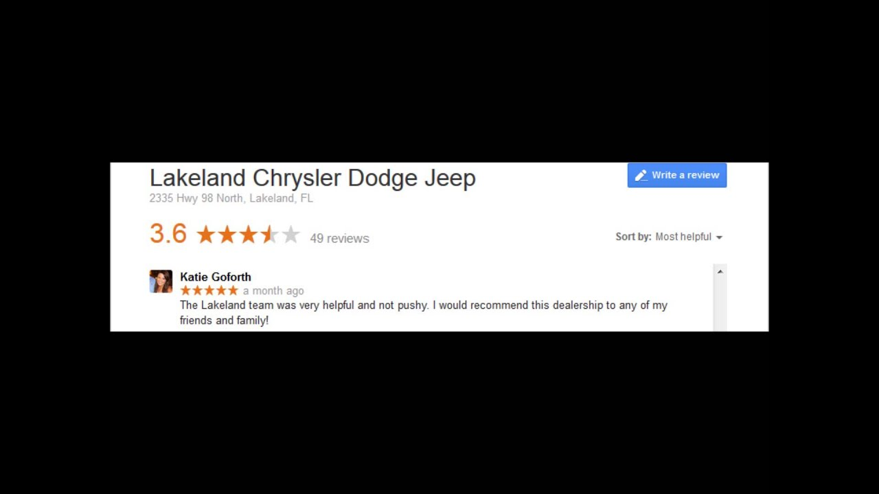 Lakeland Chrysler Reviews