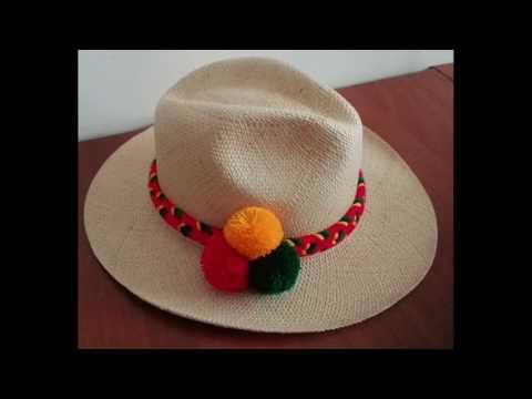 Panama Hats  pompons