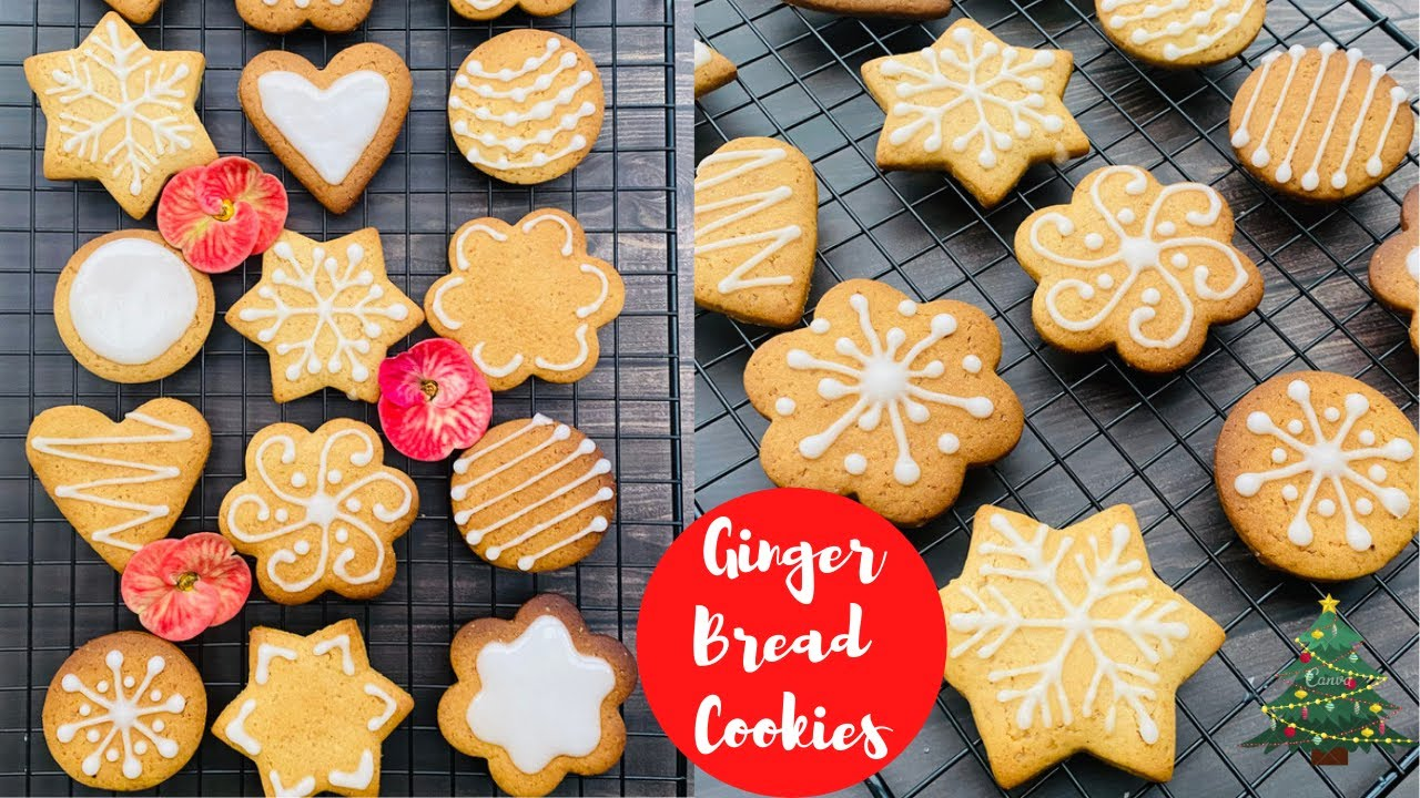 Gingerbread Cookies Recipe No Molasses Ginger Bread Cookies Christmas Cookies Foodgasm Youtube