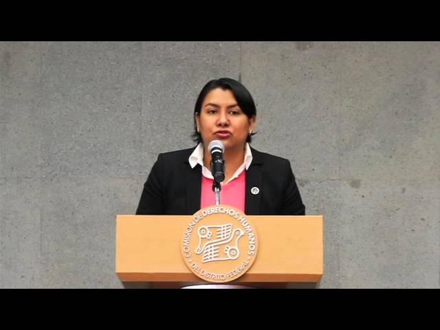 Discurso de la Dra. Perla Gómez en la presentación de la Recomendación 15/2015