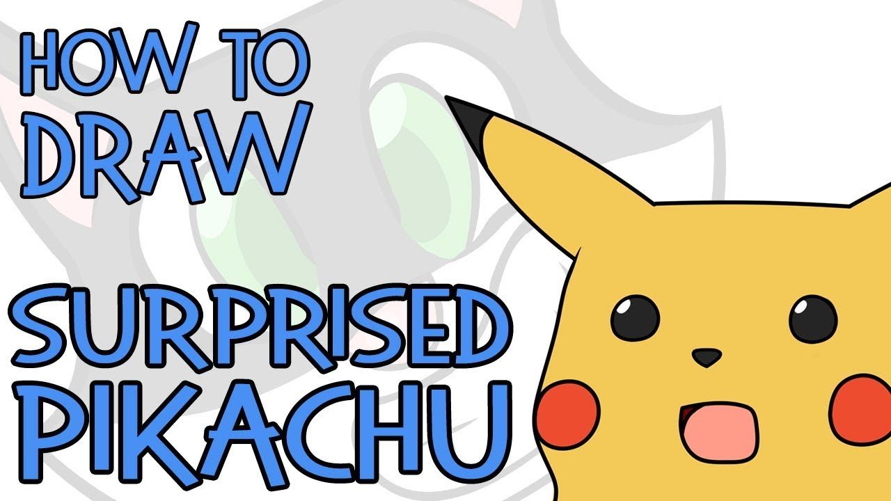 How To Draw Surprised Pikachu Meme 2019 Youtube