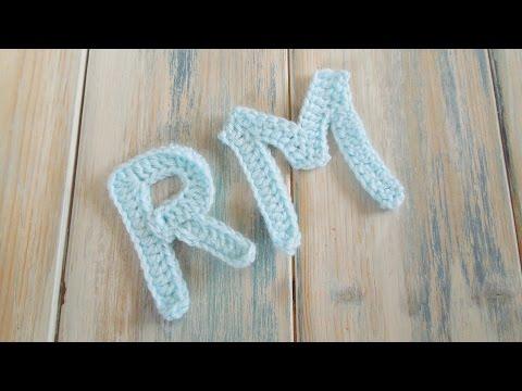 (crochet) How To Crochet Letters P, R. M - Crochet Extras