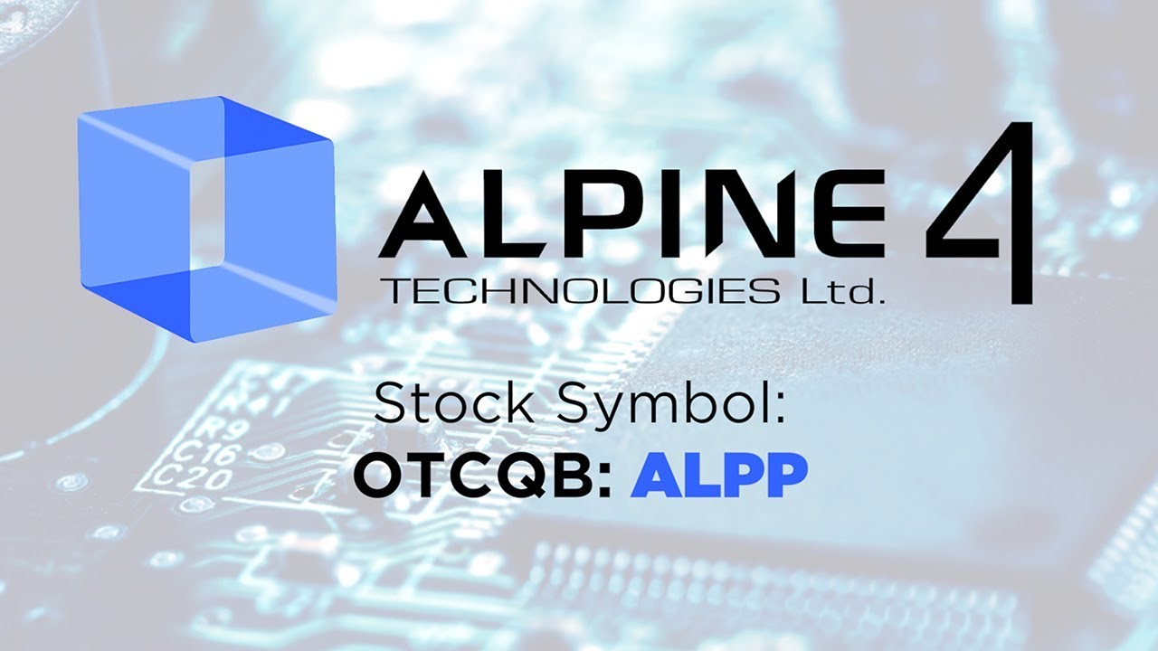 Alpine 4 technologies exclusive interview with ceo of high growth alpine 4 technologies exclusive interview with ceo of high growth stock buycottarizona