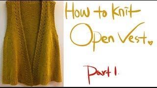 대바늘 뜨개질. How to knit.물결무늬 조끼 뜨…