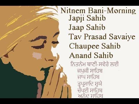 Full Nitnem Path - Japji Jaap Chaupai Anand Sahib Tav Prasad Savaiye | GurbaniKirtanNonstop