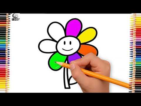 tô màu bông hoa tại kienthuccuatoi.com