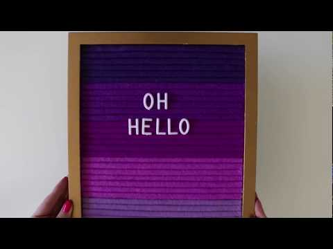 DIY How To Make An Ombre Letterboard