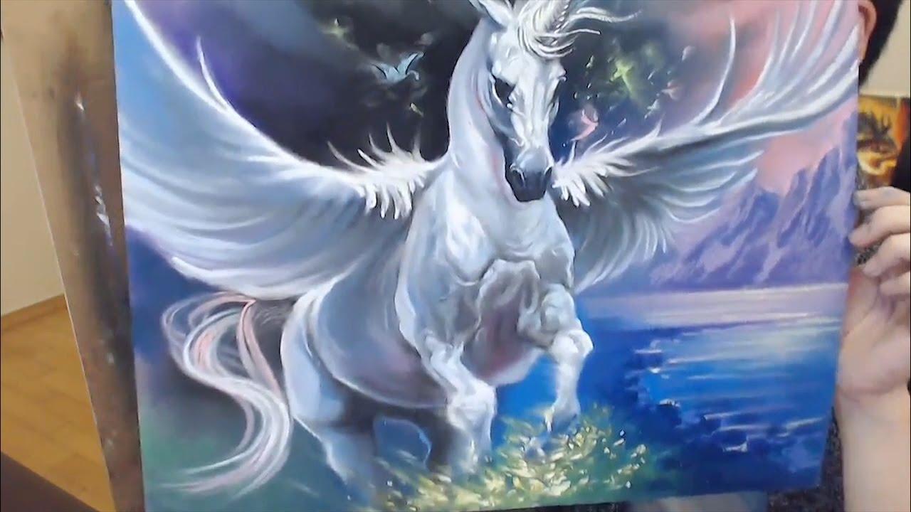 파스텔 데일리페인팅 유니콘 Unicorn Youtube