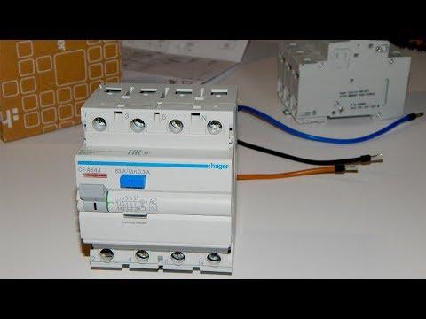 Как проверить трехфазное УЗО в однофазной сети  Проверка четырехполюсного УЗО в сети 220 Вольт