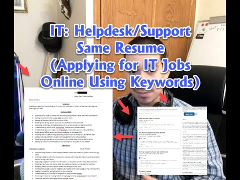 IT: Helpdesk/Support My Sample Resume (How To Apply For IT Jobs Online Using Keywords)