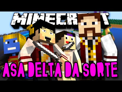 ASA DELTA DA SORTE! - VAMOS DESTRUIR!! :O (c/ Edu, Luiz e Afreim) - Lucky Block Minecraft