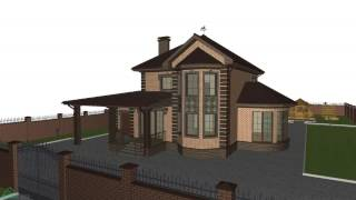 видео Проект дома с мансардой и гаражом C-070-ТП