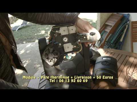 Remplacement du module LED 60W d'une lyre Indigo 4500, Q-SPOT 260 ou Maxspot 500