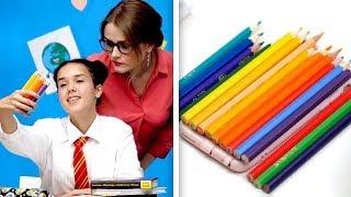 35 COOL SCHOOL LIFE HACKS AND DIYS