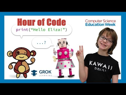 Hour of Code 1 - IS ELIZA HUMAN? (Python) CSEdWeek 2016 Day 1270 | ActOutGames
