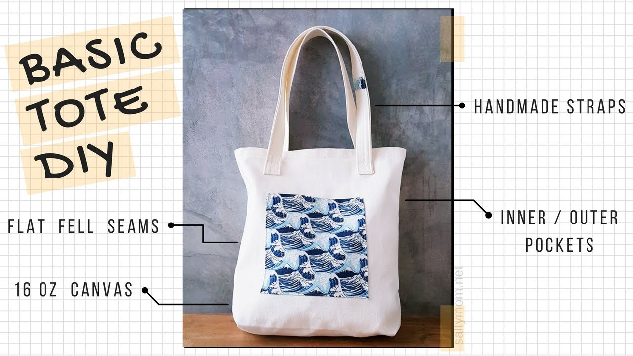 Sew A Basic Tote Bag With Flat Fell Seams Handmade Straps N Pockets