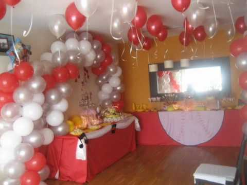 Decoracion con globos jannett 1 youtube for Decoracion con globos