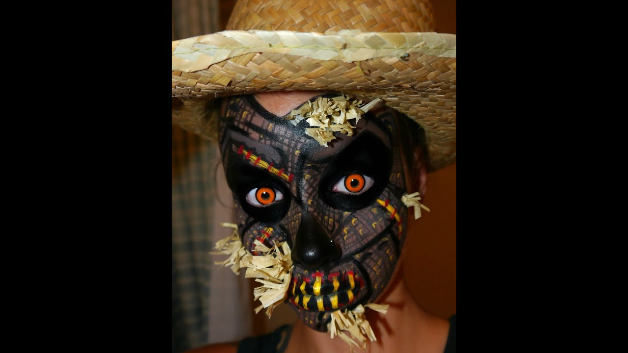 halloween series 2012 scarecrow halloween makeup face painting tutorial youtube - Scary Face Paint Ideas For Halloween