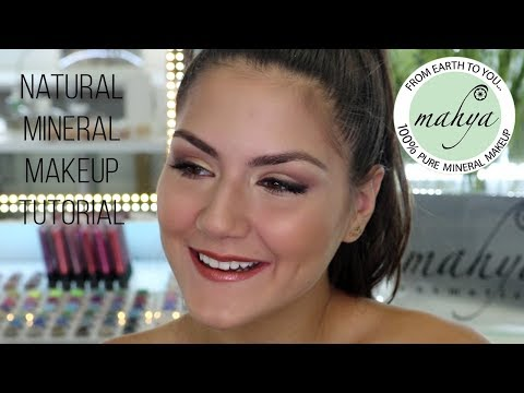 NATURAL MINERAL MAKEUP TUTORIAL - MAHYA COSMETICS ( MAKEUP GIVEAWAY ) ♥