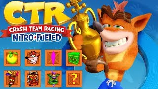 Crash Team Racing Nitro Fueled - All Tracks (Full Race Gameplay)