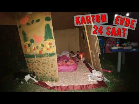 Karton evde 24 saat  Elif ile Eğlenceli  #EvdeKal #SendeOyna #SendeYap