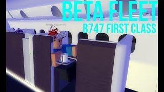 ROBLOX Beta Fleet B747 FIRST CLASS (On-board lounge/bar)